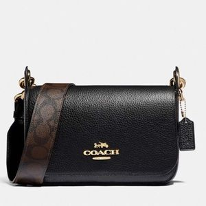 NEW COACH Jes Messenger Signature Canvas Strap
